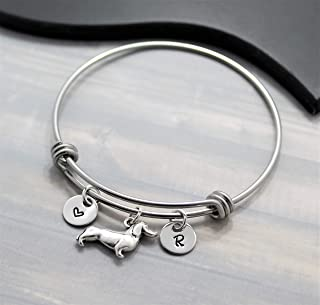 dachshund bangle bracelet