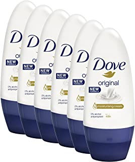 Dove Women Antiperspirant Roll On Deodorant Original, 6 x 50ml
