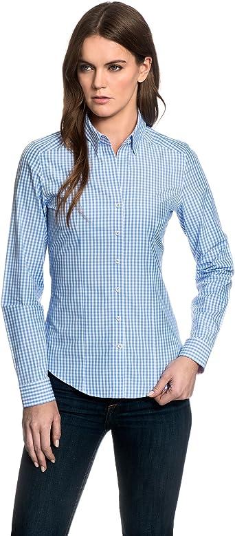 EMBRÆR - Camisas - cuello mao - para mujer Azul Hielo 40 ...