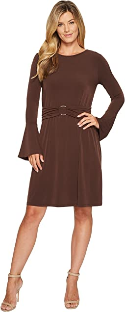 MICHAEL Michael Kors - Flare Sleeve Ring Dress