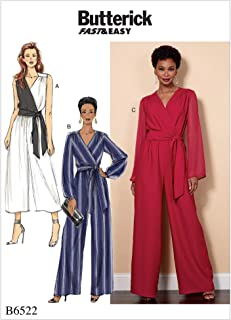 Butterick Sewing Pattern R10042 / B6522 - Misses'/Women's Jumpsuit and Sash, Size: B5(8-10-12-14-16)