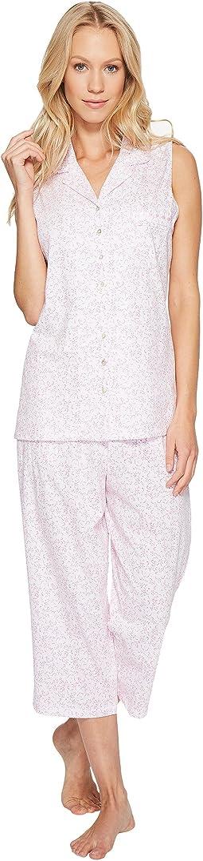 Cotton Jersey Notch Collar Capris PJ
