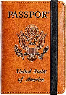 Girl Kimono Bow Movement Wind Leather Passport Holder Cover Case Travel One Pocket