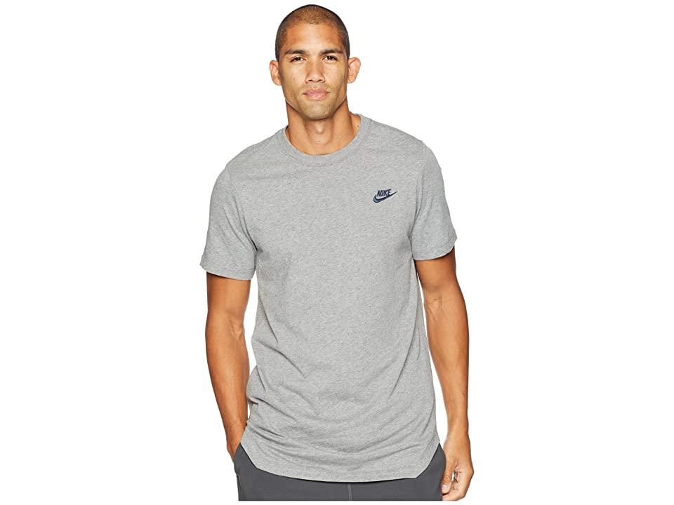 Nike NSW Tee Alt Hem Futura T-Shirt (Carbon Heather/Obsidian) Men