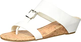 Rampage Women's Senorita Cork Demi-Wedge T-Strap Thong Sandal