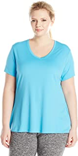 Women's Plus-Size Cool DRI Short Sleeve V-Neck Tee