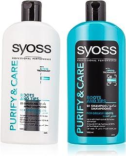 Syoss Shampoo & Conditioner Pure & Care, 500 ml + 500 ml