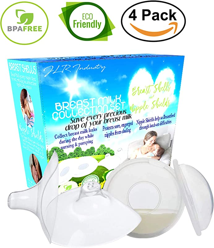 Breast Shell Milk Collector Contact Nipple Shield Milk Catcher For Breastfeeding Relief Set Lactation Nursing Collection Cups Catchers Let Down Catcher In Bra Reusable Leak Pads Replacement