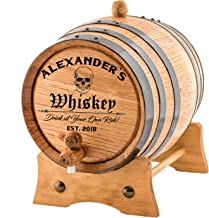 Personalized - Custom American White Oak Aging Barrel | Age your own Whiskey, Wine, Rum, Tequila, Beer, Bourbon & More. - ...