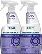 Gonzo Disinfectant Spray & All Purpose Cleaner - 24 Ounce (2 Pack) Lavender - Odor Eliminator, Disinfectant, Flood Fire Water Damage Restoration