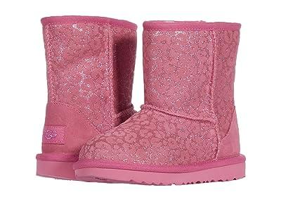 UGG Kids Classic II Glitter Leopard (Toddler/Little Kid) (Wild Berry) Girls Shoes
