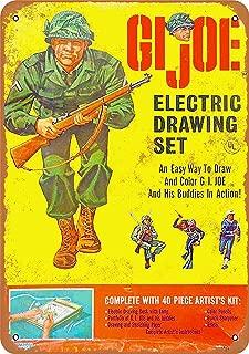 Tin Sign 8x12 Inch 1965 GI Joe Electric Drawing Set Vintage Look Reproduction Metal Sign
