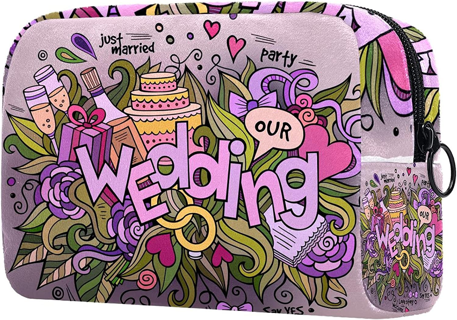 Max 90% OFF OFFicial mail order Makeup Bag Coin purse happy wedding Cosmetic