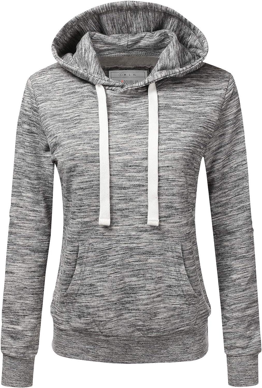 1 year warranty CLOVERY Women's Basic Lightweight Sweatshirt Superlatite wit Pullover Hoodie