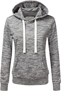 Basic Lightweight Pullover Hoodie Sweatshirt for Women