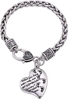 LIKGREAT Vintage Amulet Wiccan Star Majora's Mask Bracelet for Men Women with Wheat Link