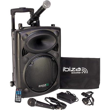 Ibiza Port10VHF-BT Enceinte portable 500 Watts Noire
