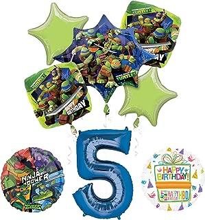 Teenage Mutant Ninja Turtles 5th Birthday Party Supplies and TMNT Balloon Bouquet Decorations