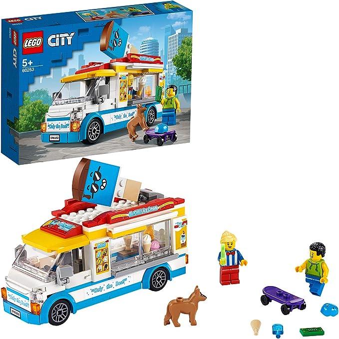 4334 opinioni per LEGO City Great Vehicles Furgone dei Gelati con Cliente su Skateboard e Cane,