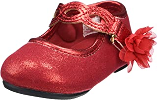 Baby Deer Kids' Shimmer Mary Jane W/Chopout Strap Flat