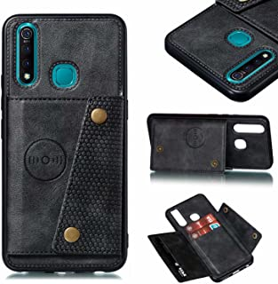 Jtailhne Compatible for Case Oppo A95 5G & 2X Screen Protector, PU Leather Card Holder (Fit Magnetic Car Mount) Double Cla...