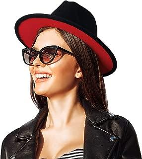 Best black hat with red under brim Reviews