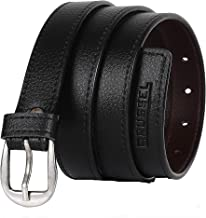 BRUSSEL : PU Leather Belt for Girl and Ladies Free Size (Black, upto 40 Size