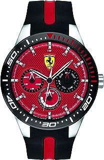 Ferrari Mens Quartz Watch, Chronograph Display and Silicone Strap 830588