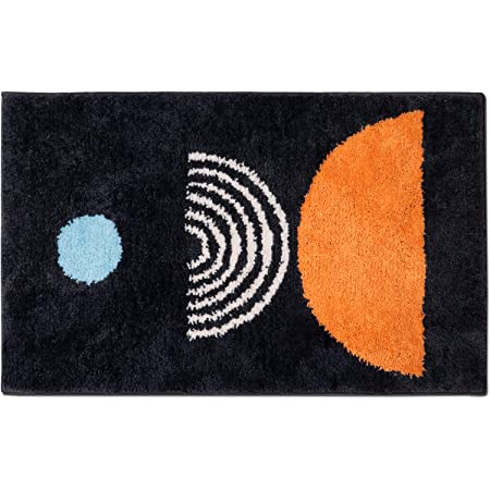 EVERYTHRY Durable Door Mat, 20 X 32 Inches, Waterproof Low Profile Welcome Mat for Indoor, Easy Clean Non Slip Floor Mat, Rugs for Entryway, Patio, High Traffic Areas, Black