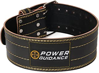 Weight Lifting Belt, 4inch Wide, Genuine Leather, Ideal for Deadlift, Squat, Powerlifting, Weightlifting Workout, Firm & Comfortable Lower Back Support