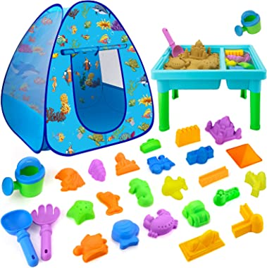 Beach Toys for Toddlers Boys Girls, 27 PCS Sand