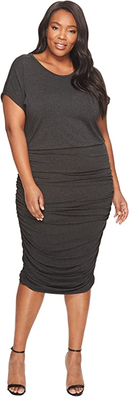 Vince Camuto Specialty Size - Plus Size Short Sleeved Ruched Dress