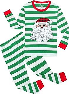 shelry Boys Christmas Pajamas Children Cotton Clothes Kids Pjs Pants Set Red Green