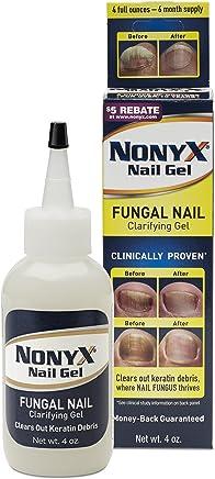 NONYX Fungal Nail Clarifying Gel, Clears Out Keratin Debris Where Nail Fungus Thrives, 4 oz.