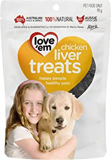 Love 'Em Chicken Liver Treats, 90g, Small and Medium, Puppy