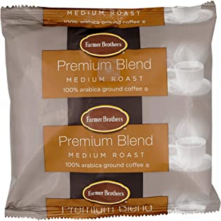 Farmer Brothers Coffee - Ground Medium Roast 100% Arabica 8 Oz Bag (Bulk 48 Pack)