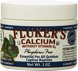 Fluker's 73015 Reptile Calcium Supplement Without Vitamin D3, 2-Ounce