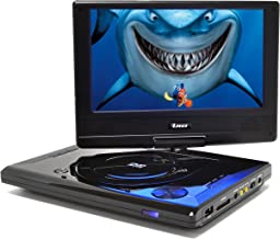 """OREI 9"""" Portable All Multi Region Free Zone DVD Player - 4 Hour Battery, USB Input, Car Charger - USB Input Divx Playback"""