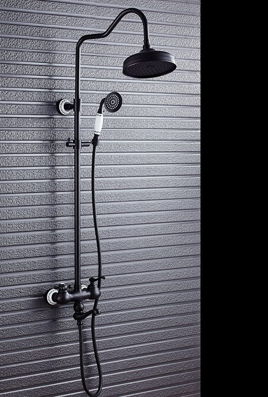 ZHFC-doccia rubinetto Water Europa doccia schwarz Bronzo doccia insieme pieno di rame Vintage Ceramica doccia doccia