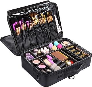 Hotrose Makeup Bag Cosmetic Case Portable Travel Beauty Box Waterproof Makeup Bag Organiser Bag Makeup Artist Bag Multifun...