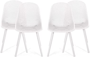 Christopher Knight Home 312462 Dasha Outdoor Dining Chair (Set of 4), White