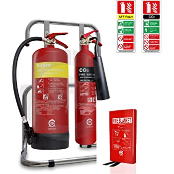Medium stands ID signs 5 X Fire Extinguishers Large Office Fire Safety Pack