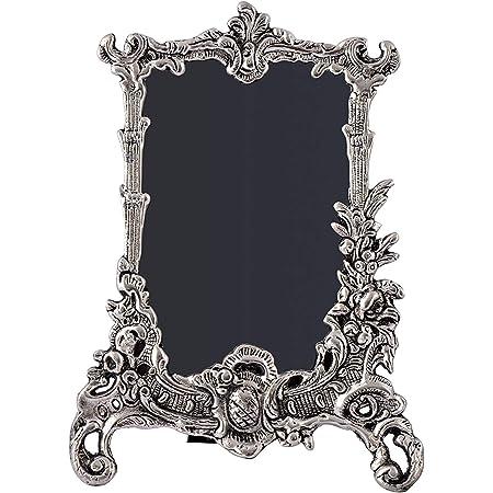 HOUZZPLUS White Metal Photo Frame (19 x 1 x 25 cm, Silver)