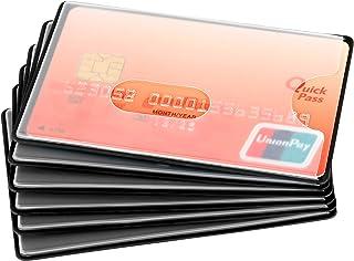 Mitavo – Protector Tarjetas RFID, Set de 6 Fundas para Tarjetas de Crédito, Tarjetas de Dinero, Girocard, Plástico, Negro ...