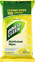 Pine O Cleen Antibacterial Disinfectant Surface Wipes Lemon & Lime (Count of 45)