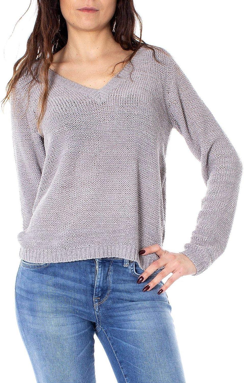 Only Women's 15175267GREY Grey Acrylic Jumper