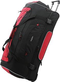"Travelers Club 36"" ADVENTURE Travel Rolling Duffle Bag, Red"