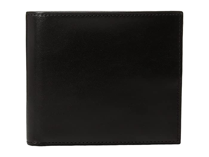Bosca  Old Leather Collection - Eight-Pocket Deluxe Executive Wallet with Passcase (Black) Wallet Handbags