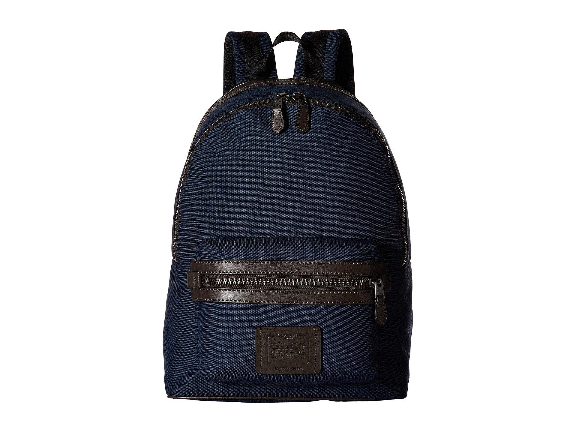 Coach chestnut Backpack Academy Qb Navy bright In Cordura zxz860rwq