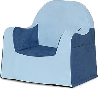 P'kolino Little Reader, Sillón liviano y cómodo para el pequeño niño lector sillita para bebes con forro de microfibra resistente, Azul (Light Blue/light blue)